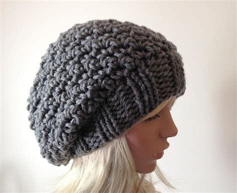 how to knit a slouchy hat crocheted slouchy beanie w knitted brim by lindagebh192468
