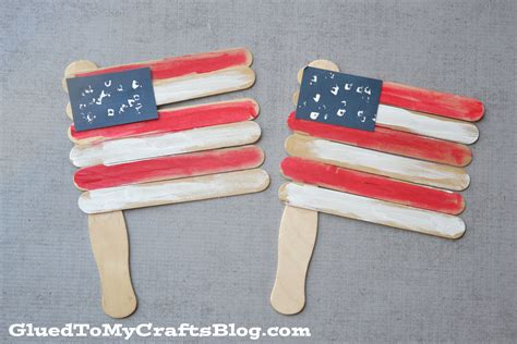 stick crafts for popsicle stick flags kid craft