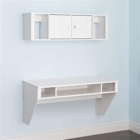 designer floating desk prepac designer floating desk hutch set in white ebay