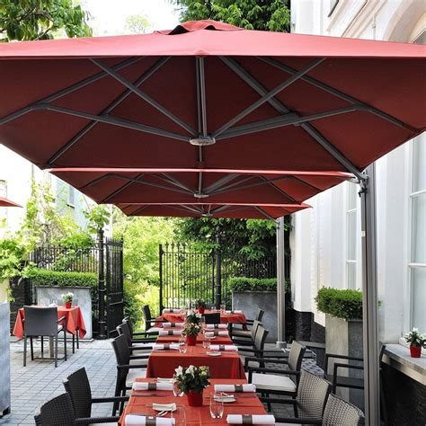 canvas patio umbrellas square commercial umbrellas p6 series shelter outdoor