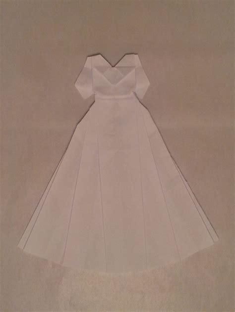 how to make origami wedding dress origami wedding dress origami