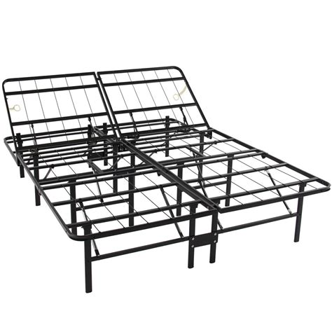 metal bed frame box adustable platform metal bed frame no box mattress