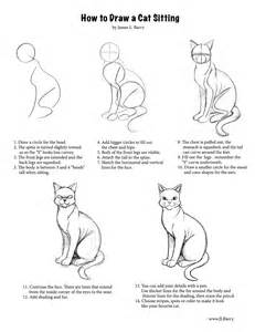 cat step by step cats how to draw a cat