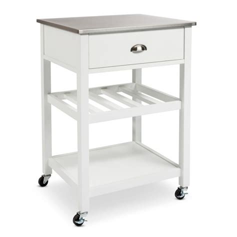kitchen islands with stainless steel tops threshold stainless steel top kitchen cart ebay