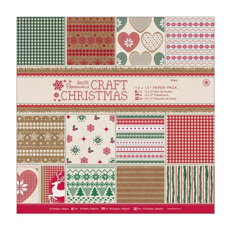 craft paper packs 12 x 12 quot paper pack 32pk craft docrafts