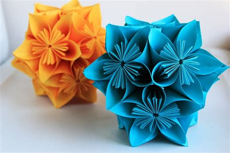 kusudama flower origami how to make an origami flower origami clover kusudama