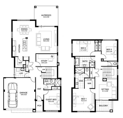 2 story house floor plans storey 4 bedroom house designs perth apg homes