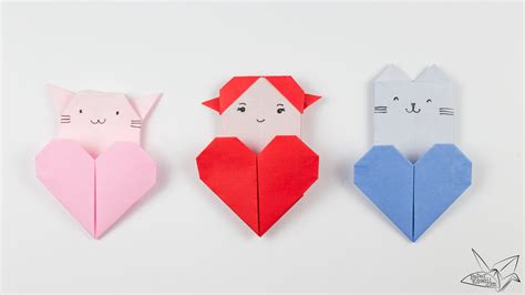 Origami Cat Tutorial Origami Pocket Paper