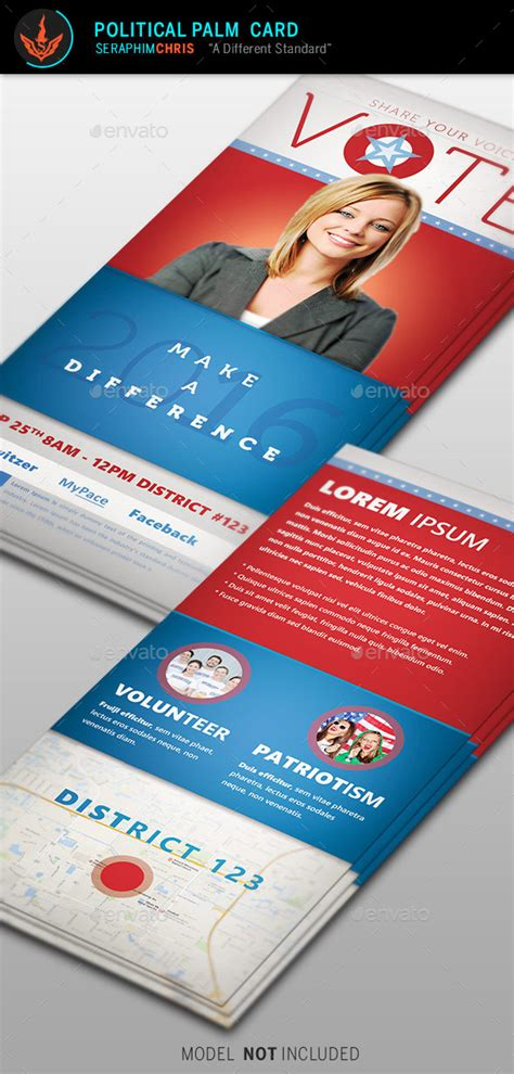 vote political palm card template by seraphimchris