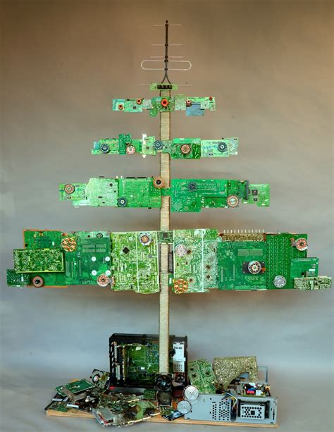 computer tree a tree made from computer parts cool a