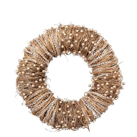 beaded wreaths gold beaded wreath by the home