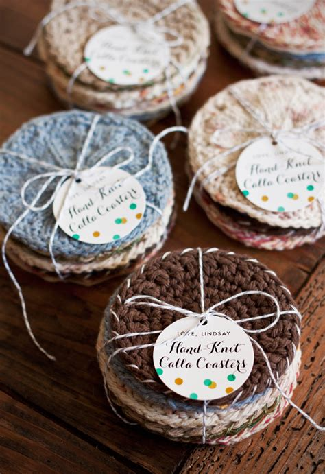 knitting ideas for presents handmade gift idea knitted coasters evermine occasions