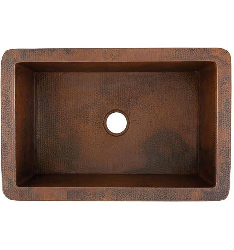 cooper kitchen sink toscana hammered copper sink