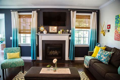 Dining Room Drapery Ideas how to decorate your living room with turquoise accents