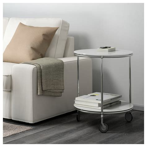 ikea strind coffee table strind side table white nickel plated 50 cm ikea
