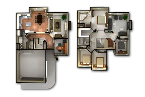 2 story floor plans 2 story 3d floor plan and bedroom house plans storymodern