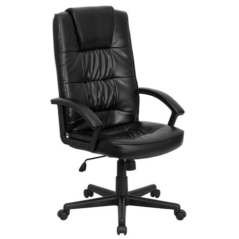 executive office chair leather flash furniture high back black leather executive office