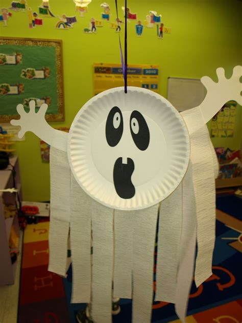 paper plate ghost craft crafts of ghost 4