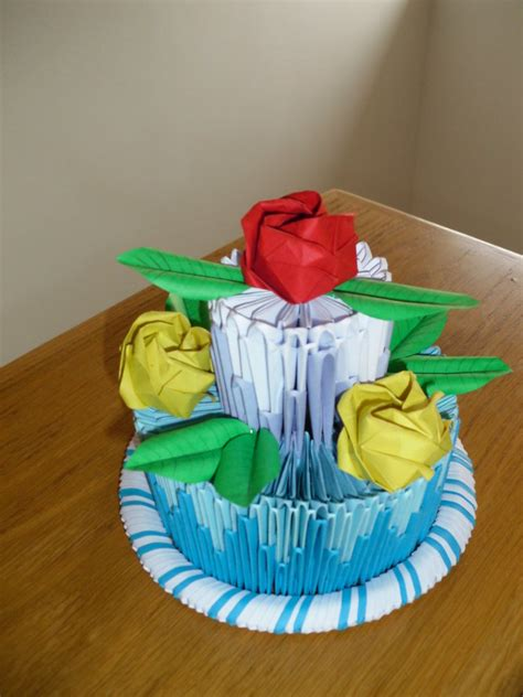 3d origami cake 3d origami cake by justtree on deviantart