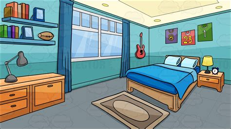 background bedroom a bedroom of a boy background vector clip