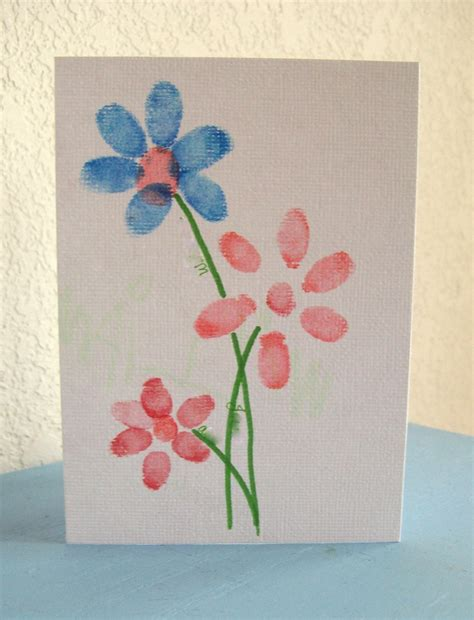 card craft for preschool crafts for s day fingerprint