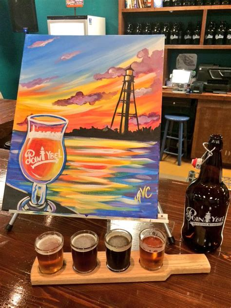 paint nite ft myers paint pint debuts at point ybel brewery wink news