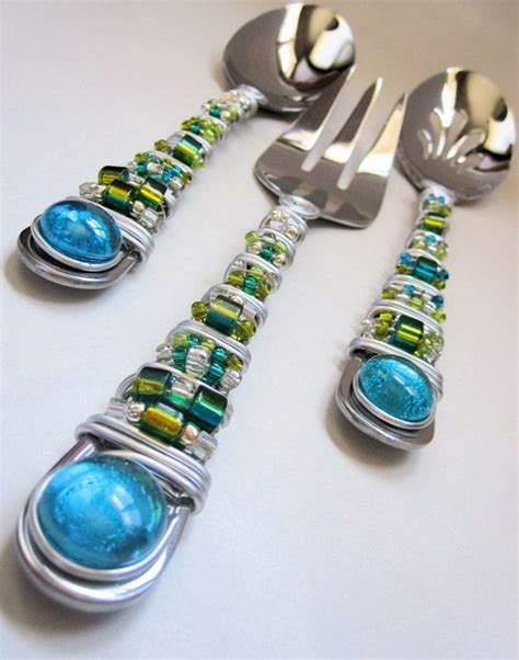 beaded flatware 58 best beaded table ware images on wire