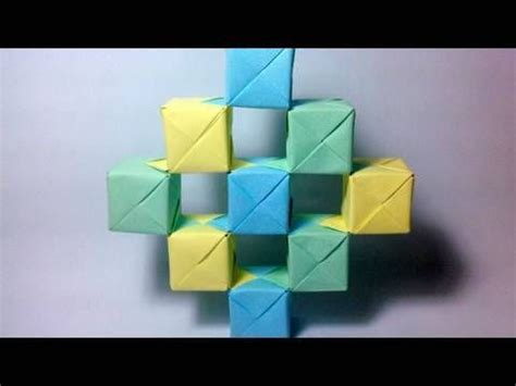 origami moving cubes how to make an origami moving cubes using sonobe units