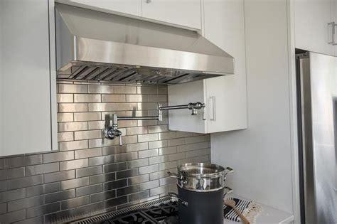 stainless tiles for backsplash stainless steel brick tile backsplash design ideas