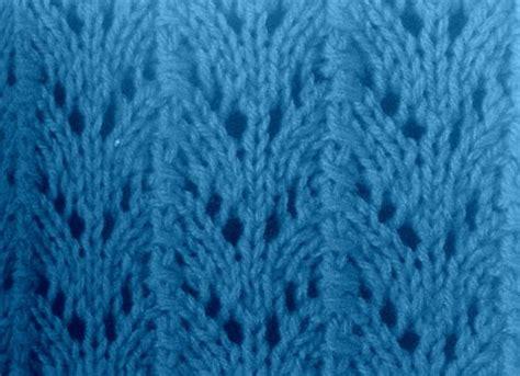 Fishtail Lace Knitting Stitch Pattern