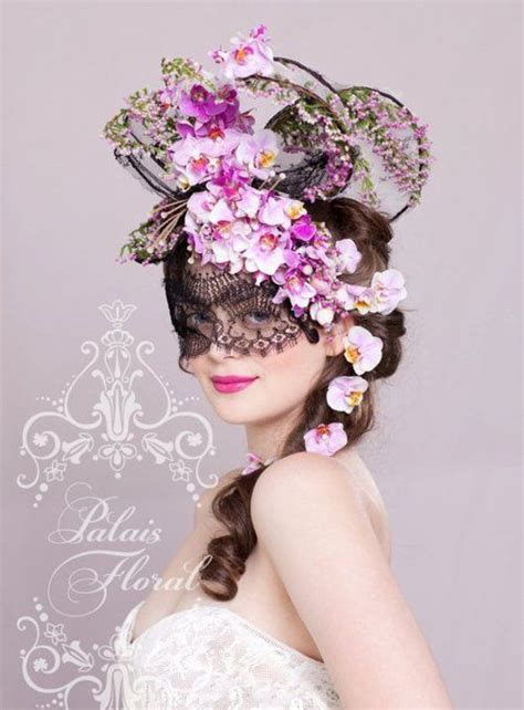 flower mask racing carnival floral fantasia pieces fresh