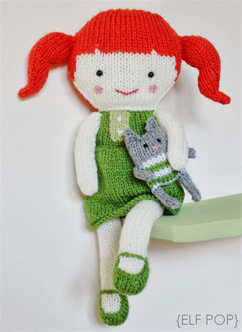 knitted doll patterns pop olive pea knitted doll pattern