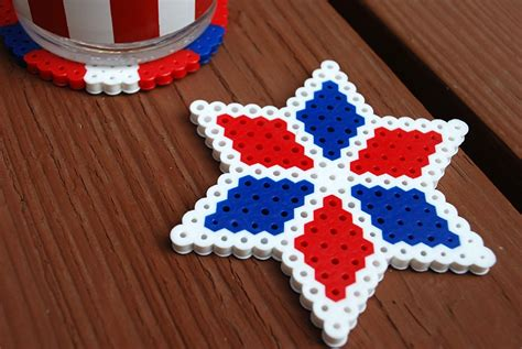 perler days activity fourth of july crafts perler bead diy coasters