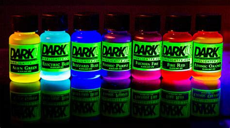 glow in the paint different colors glowing liquid uv neon blacklight reactive dye paint