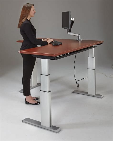 ideal height for computer desk best 20 adjustable height desk ideas on