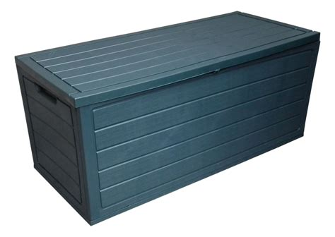 plastic patio storage boxes 250l garden plastic storage boxes w lid utility chest outdoor container shed ebay