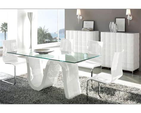dining room sets modern modern dining room set made in spain wave 3323wv