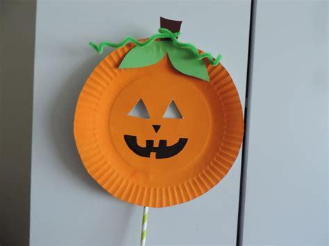paper plate pumpkin craft paper plate pumpkin mask my kid craft