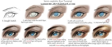paint tool sai tutorial realistic semi realistic eye tutorial by sangrde on deviantart
