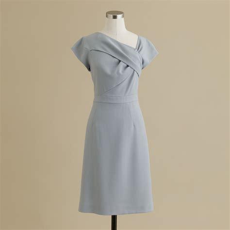 dress origami j crew origami sheath dress in wool crepe in blue cool
