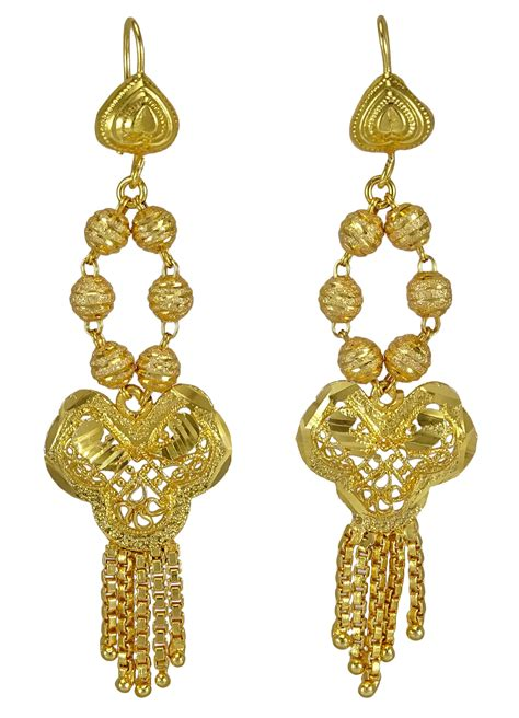 18k gold for jewelry traditional 18k gold plated necklace earring set