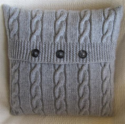 knitted pillow cover pattern free classic cable 18 quot x18 quot pillow cover by ladyshipdesigns