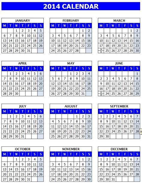 microsoft office calendar template 2014 calendar