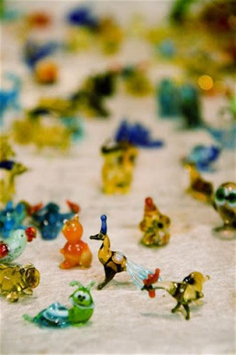scenery rubber sts glass animal figurines