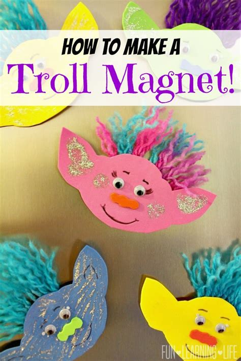 kid crafts how to make a troll magnet and get interactive with trolls