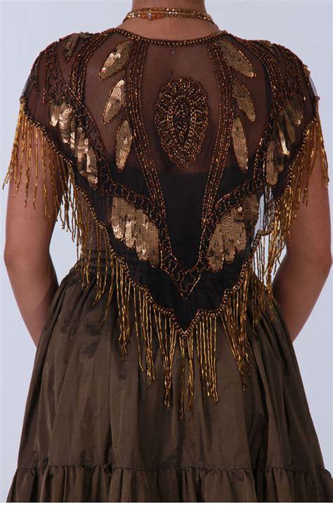 beaded shawl copper beaded shawl western wear by n