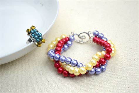 easy jewelry ideas handmade beaded jewelry designs simple pearl bracelet and