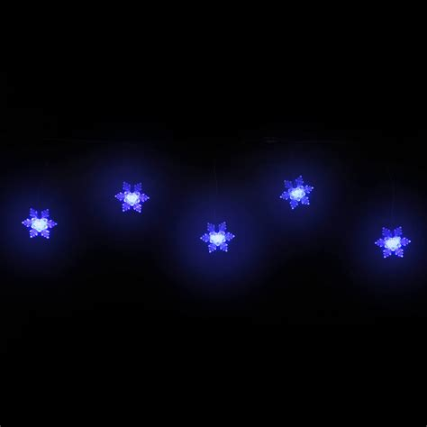 blue icicle lights blue snowflake icicle 50 led large cap green wire