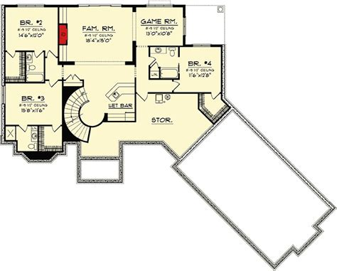 house plans ranch with walkout basement ranch home plan with walkout basement 89856ah