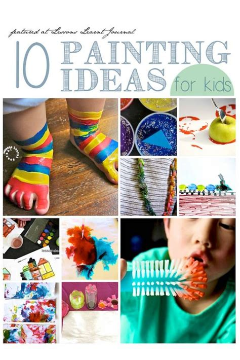 ideas for children 10 painting ideas for